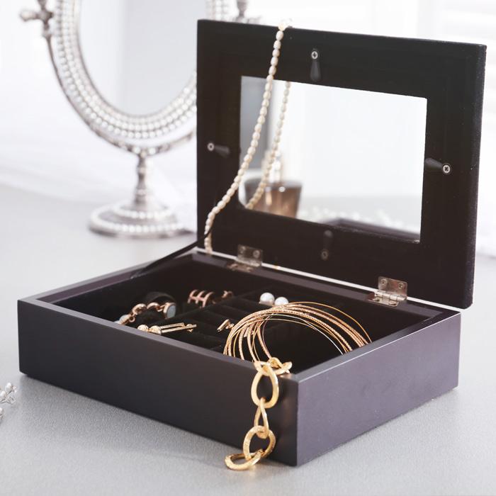 Mirror jewellery boxes